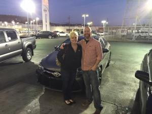 Amber Rankin and her fiancee are happy to be going home in a new Camry.